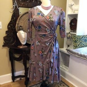 Kiyonna - sz 20W - Dusky Mauve Purple Dress
